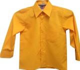 Rajindras Boys Solid Casual Yellow Shirt