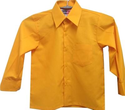 Rajindras Boy's Solid Casual Yellow Shirt