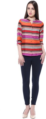 pinaki perryhills Women's Printed Casual Multicolor Shirt