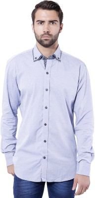 Tag & Trend Men's Solid Casual Blue Shirt