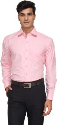 Rico Sordi Men's Solid Formal Pink Shirt