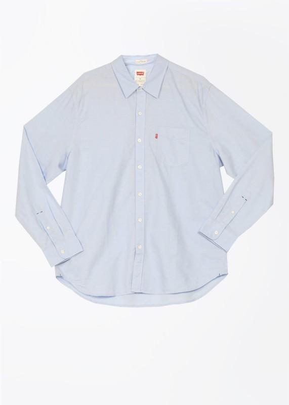 Levi's Men's Solid Casual Blue Shirt