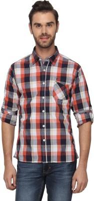 T-Base Men's Checkered Casual Multicolor Shirt
