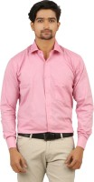 Appayes Formal Shirts (Men's) - Appayes Men's Solid Formal Pink Shirt