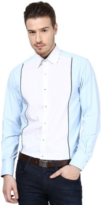 Shiksha Men's Solid Casual White Shirt