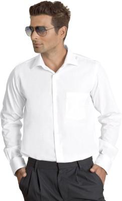 Willmohr Men's Self Design Wedding, Formal White Shirt