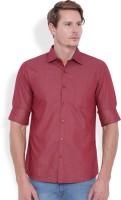 Entigue Formal Shirts (Men's) - Entigue Men's Solid Formal Maroon Shirt