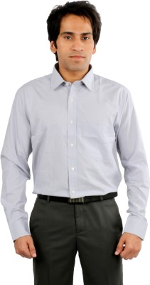 Desar Rana Men's Solid Formal Grey Shirt