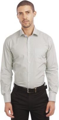 Leo Men's Self Design Formal Grey Shirt