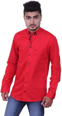 Austrich Men's Solid Casual Red Shirt
