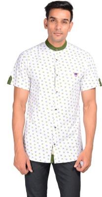GARGI FASHIONS Men's Printed Casual Green, White Shirt
