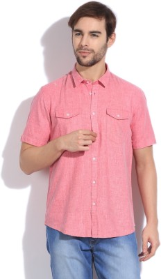 Arrow New York Men's Solid Casual Pink Shirt