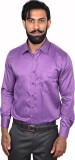 Urban Grandeur Men's Striped Formal Purp...