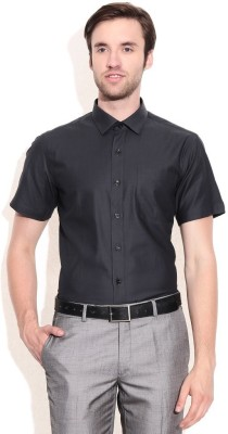 Shiksha Men's Solid Formal Grey Shirt