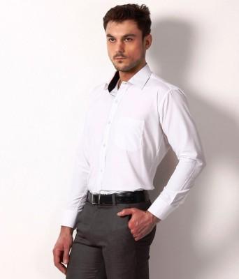 Regalfit Men's Solid Casual Black Shirt