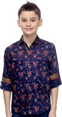 Mash Up Boy's Printed Casual Red Shirt