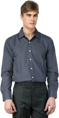MNW Men's Solid Formal Grey Shirt