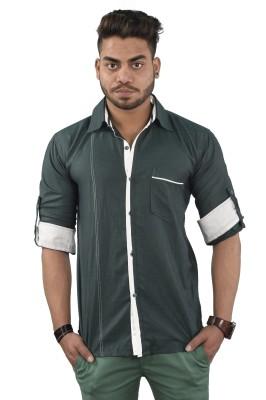 Your Desire Shirts Men's Checkered Casual Dark Green, White Shirt