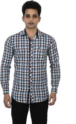 Jim Scott Men's Checkered Casual Black, Blue, Maroon Shirt