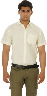 Venga Men's Solid Formal Yellow Shirt