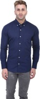 Yasna Formal Shirts (Men's) - Yasna Men's Solid Formal Dark Blue Shirt