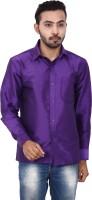 Kenrich Formal Shirts (Men's) - KENRICH Men's Solid Formal Purple Shirt