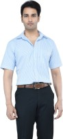 Countryside Formal Shirts (Men's) - Countryside Men's Striped Formal Blue, White Shirt