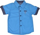 Kuddle Kid Boys Printed Formal Blue Shir...