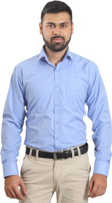 The Standard Men's Solid Casual Blue Shirt
