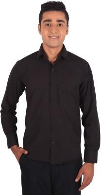 Henry Spark Men's Solid Formal Black Shirt