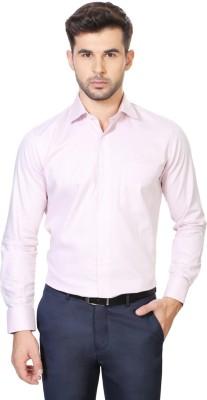 Van Heusen Men's Geometric Print Formal Pink Shirt