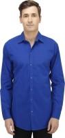 Haltung Formal Shirts (Men's) - Haltung Men's Solid Formal Blue Shirt