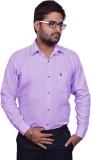 Mc-John Men's Solid Casual Purple Shirt