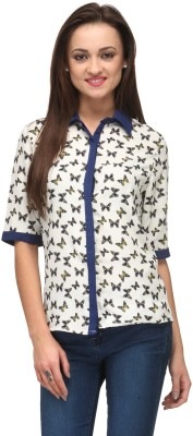 Vemero Clothings Women's Printed Formal Multicolor Shirt