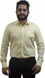 Aces Blue Men's Solid Formal Yellow Shir...