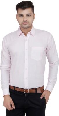 FranklinePlus Men's Solid Formal Pink Shirt