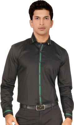 Red Country Men's Solid Casual Black Shirt