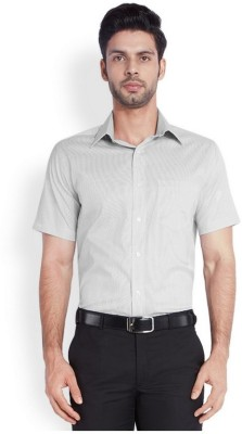 Park Avenue Men,s Checkered Formal Grey Shirt