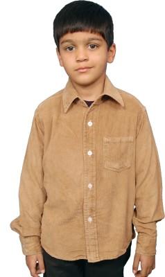 Fashion N Style Boy's Solid Casual Beige Shirt