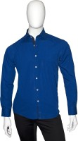 Cotton Natural Formal Shirts (Men's) - Cotton Natural Men's Checkered Formal Blue Shirt