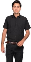 Mild Kleren Formal Shirts (Men's) - Mild Kleren Men's Solid Formal Black Shirt