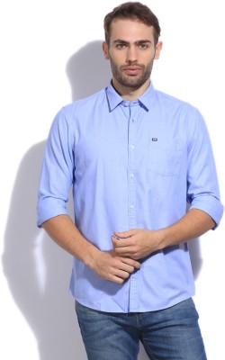 Arrow Sport Men's Self Design Casual Blue Shirt
