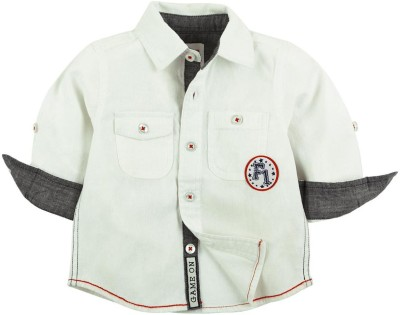 Babyoye Boy's Solid Casual White Shirt