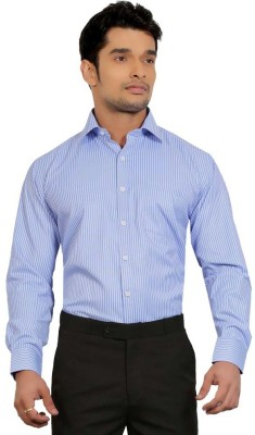 Shiksha Men's Solid Formal Blue Shirt