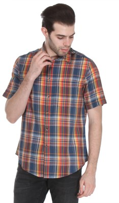 Reevolution Men's Checkered Casual Multicolor Shirt