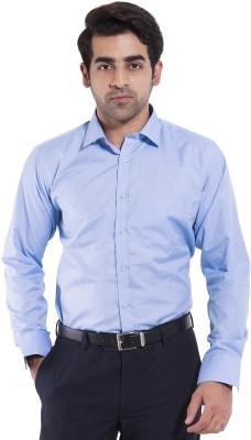 Mild Kleren Men's Striped Formal Light Blue Shirt