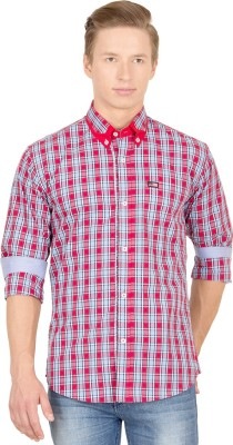 Union Street Men's Checkered Casual Red, Blue Shirt