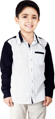 Naughty Ninos Boy's Printed Casual White Shirt