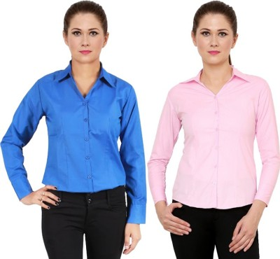 NGT Women's Solid Formal Multicolor Shirt
