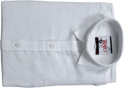 Pintoo Men's Solid Formal White, White Shirt
